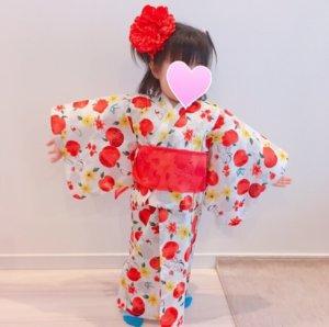 ディズニープリンセスの浴衣