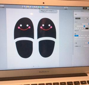 PCでスリッパを描いてます
